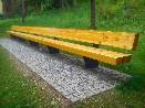 Masivní lavice délka 12m