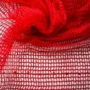 Síťovina s flitry červená