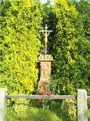 Kamenný podstavec s křížem