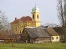 Severozápadní pohled na kostel sv. Martina