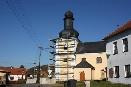 Oprava věže kostela Sv. Jiljí