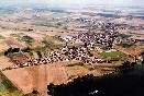 Letecký pohled na Ovčáry