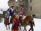 Kryštof Harant s chotí na hradě Pecka
