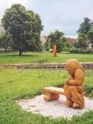 socha u horního rybníka