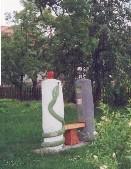 socha u dolního rybníka