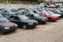 Odstavená vozidla v autovrakovišti Morava