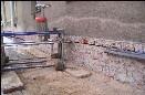 Izolace zdiva řetězovou pilou