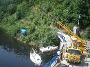 Spouštění lodí na Orlickou přehradu